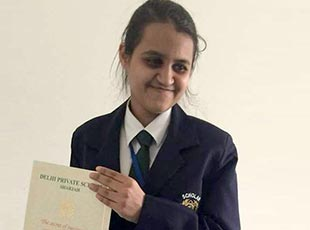 Visually impaired student scores 94.4% in CBSE exam